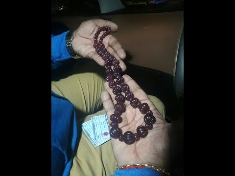 CURVED DRILLED BEAD SHAPED NATURAL RUBY GARLAND IN CHENNAI