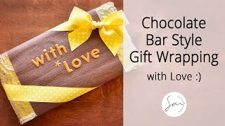 Chocolate Bar Style Gift Wrapping