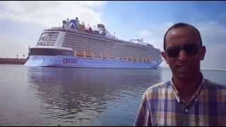 هانى عبد الرحمن يرصد عبور أكبر سفينة ركاب فى العالم قناة السويس مايو2015