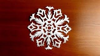 как сделать простую снежинку из бумаги поэтапно новогодние поделки