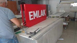 Apak reklam emlak tabelası, Alüminyum oyma içten pleksi 20mm dolu plexiglass kabartma harf - tabela