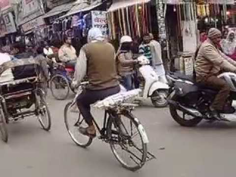 India traffic, Bareilly old town Take 1
