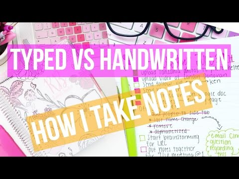 HANDWRITTEN VS TYPED ♡ HOW I TAKE NOTES