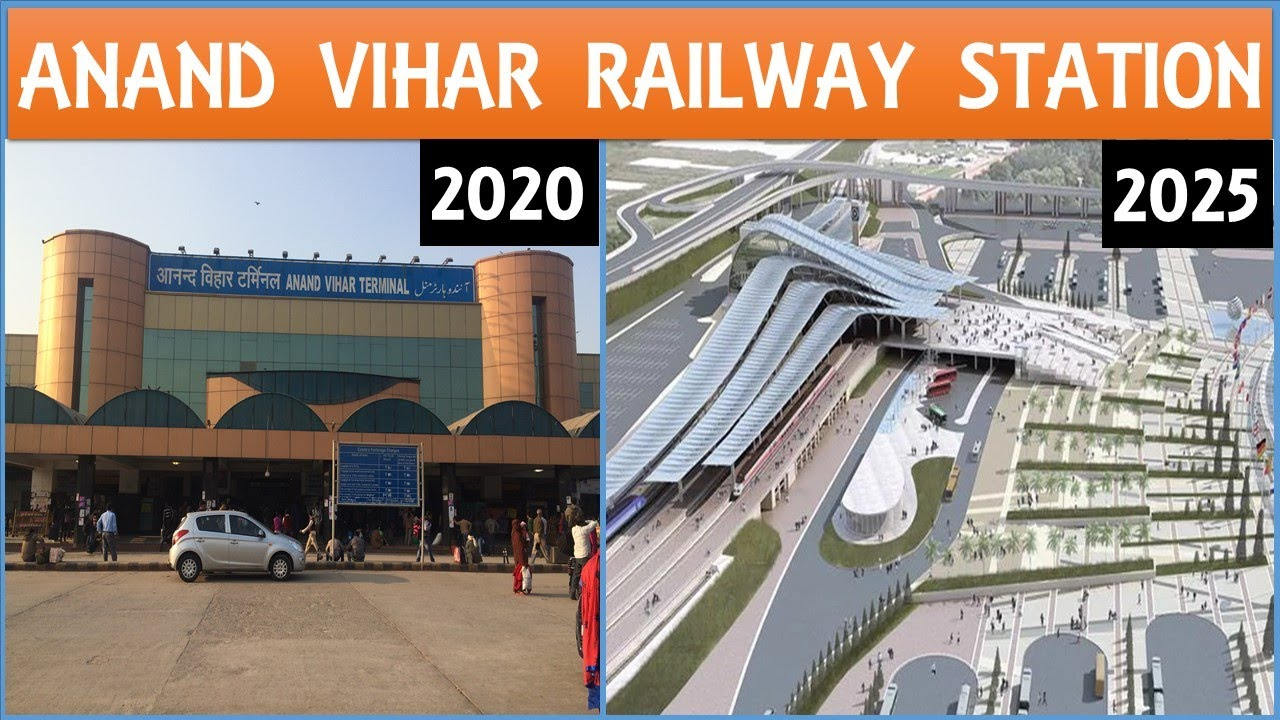 Anand Vihar Terminal Railway Station Redevelopment in New Delhi | IRSDC Projects | Papa Construction