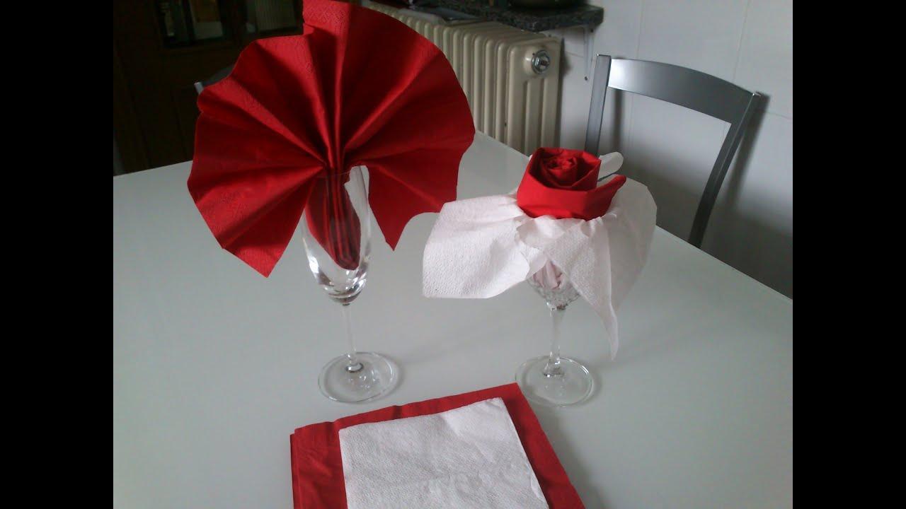doblar servilletas de papel en abanico