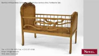 Bamboo Antique Baby Carriage/crib/cradle Faux Bamboo Misc
