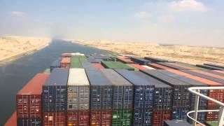 أكبر سفينة حاويات فرنسية تعبر قناة السويس الجديدة وتدفع مليون دولار رسوم