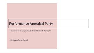 OGP Hackathon 2020 - Performance Appraisal Party