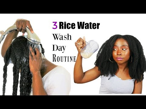 3 Rice water Fast Hair Growth Wash Day Routine | Natural Hair | Yao Women Secret