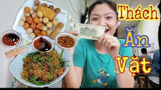 Thử Thách 100k Ăn Vặt Ở Quán Sơn Ca | Như Quỳnh Kids