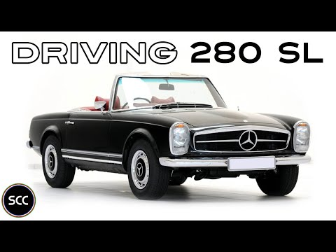 MERCEDES-BENZ 280 SL PAGODE/PAGODA 1969 - Test drive in top gear - Engine sound   SCC TV