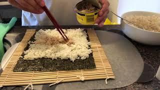 How to Make Easy Korean Kimbap - [간단한 김밥 만들기]