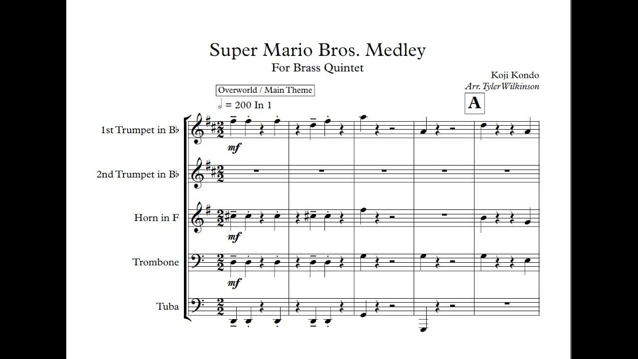 Super Mario Bros for Brass Quintet