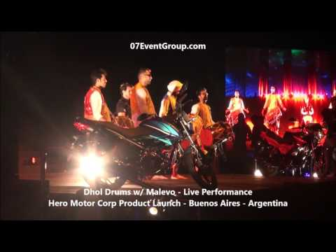 07 Event Group - Dhol Drums with Malevo - Hero Motors Launch - Buenos Aires - Argentina