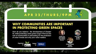 Webinar: Why Communities Are Important In Protecting Green Spaces