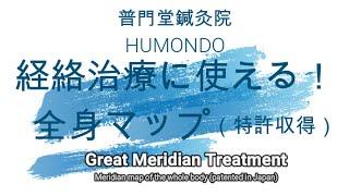 経絡治療に使える!全身マップ Great meridian treatment