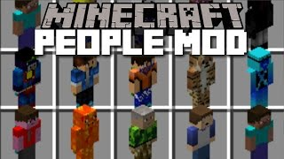 Minecraft PEOPLE MOBS MOD / POTATIANS IN REAL LIFE!! Minecraft