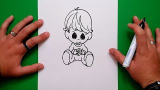 Como dibujar a un niño paso a paso | How to draw a boy