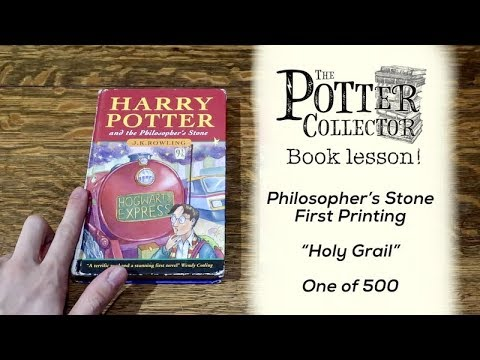 HOW TO SPOT A FIRST PRINTING OF HARRY POTTER AND THE PHILOSOPHER'S STONE BOOK LESSON