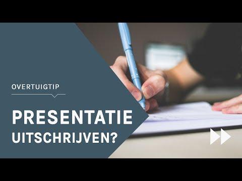 Presentatie uitschrijven? Bekijk deze tips voor een relaxte voorbereiding