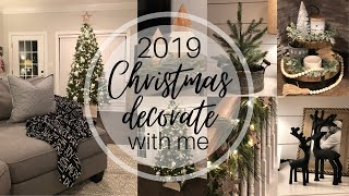 CHRISTMAS DECORATE WITH ME 2019   Holiday Decor   Home Decor   Clean With Me