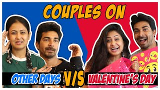 Couples On: Other Days Vs Valentine's Day Ft. MSK Vlogs // Captain Nick // #SidNaz