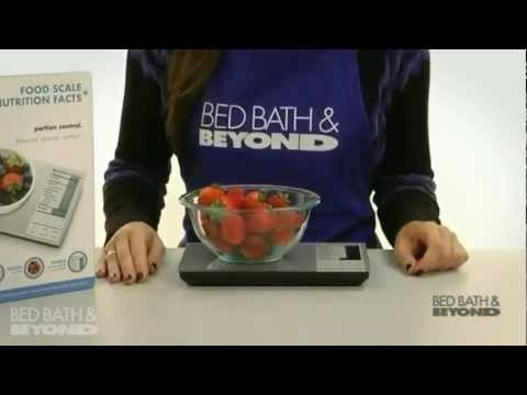Digital Nutrition Scale At Bed Bath Beyond Youtube