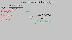 how to convert kw to hp - electrical formulas