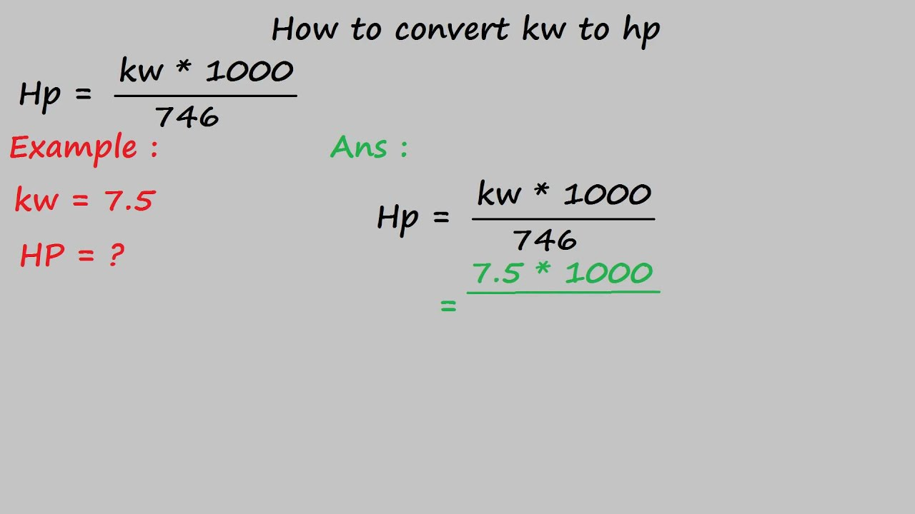 conversion kw cv din