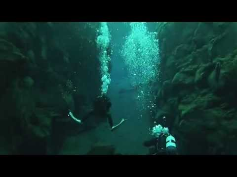Diving between the North American and Eurasian Tectonic plates