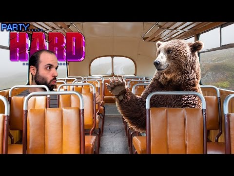 EL AUTOBÚS Y EL OSO LOCOS | PARTY HARD Gameplay Español