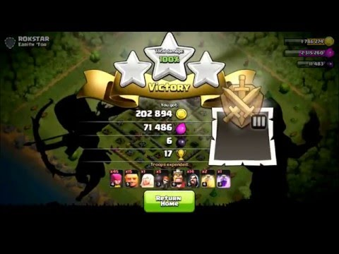 Clash Of Clans | BEST 3 Star attack strategy TH8 (No dark troops)
