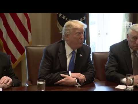 President Trump Meets with Bipartisan Members of the Senate