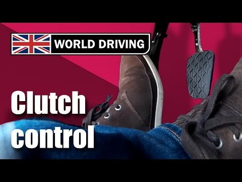 Clutch control driving lesson – learning to drive. Clutch control in traffic & on a hill.