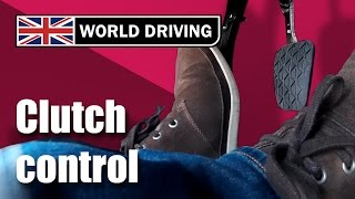 Clutch control driving lesson - learning to drive. Clutch control in traffic & on a hill. thumbnail