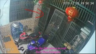 Dỡ luôn cổng sắt trộm xe máy 2018 | Chia sẻ mọi người cảnh giác