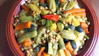 Couscous with Seven Fall Vegetables Authentic Moroccan Cuisine