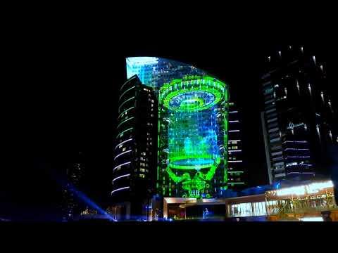 iMAGINE - Dubai Festival City 4K (The largest water screen projection )