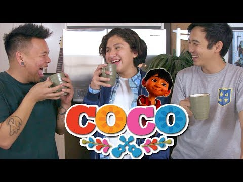 Making Hot Cocoa with Coco star ANTHONY GONZALEZ! Champurrado