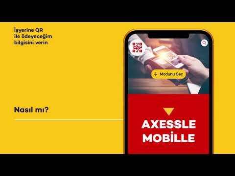 Axess Mobil'den QR Ile ödeme Nasıl Yapılır?
