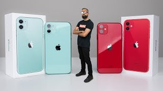 iPhone 11 UNBOXING Red vs Green
