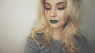 connectYoutube - St. Patrick's Day Makeup Tutorial | Glitter Tears 🍀