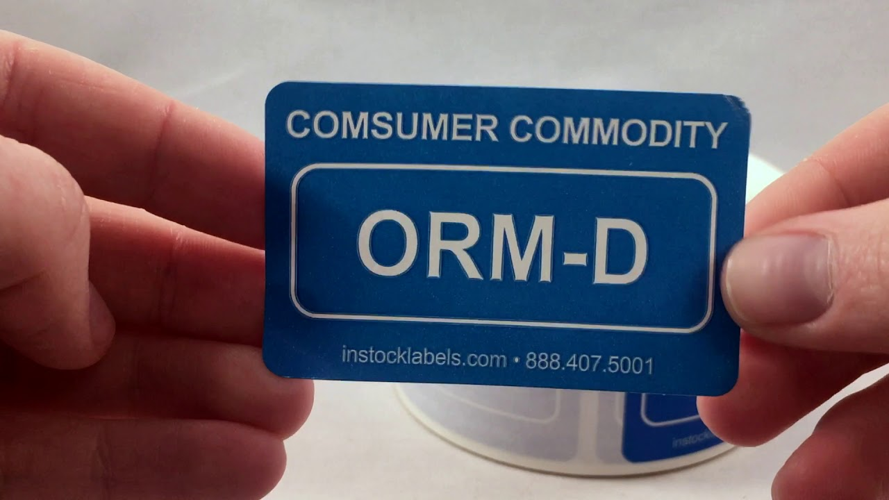 image about Orm D Label Printable named Client Commodity ORM-D Labels