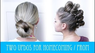 TWO UPDOS PERFECT FOR HOMECOMING & PROM!!