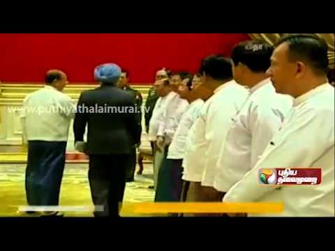 Meeting of Manmohan Singh and Rajapaksa