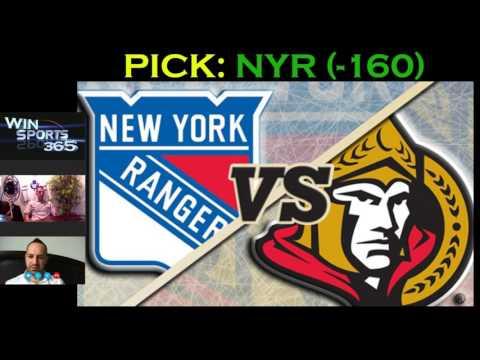 Ottawa Senators VS New York Rangers Free Pick - Ranger (-160) May 4