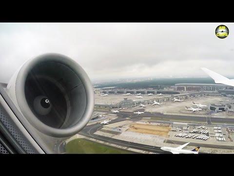 SPECTACULAR Takeoff: Lufthansa CityLine CRJ900 engine vortex & Frankfurt Airport views! [AirClips]