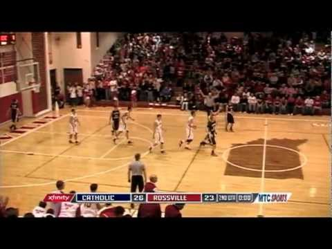 James Baker half court shot after the buzzer on MTC Sports Central Catholic at Rossville
