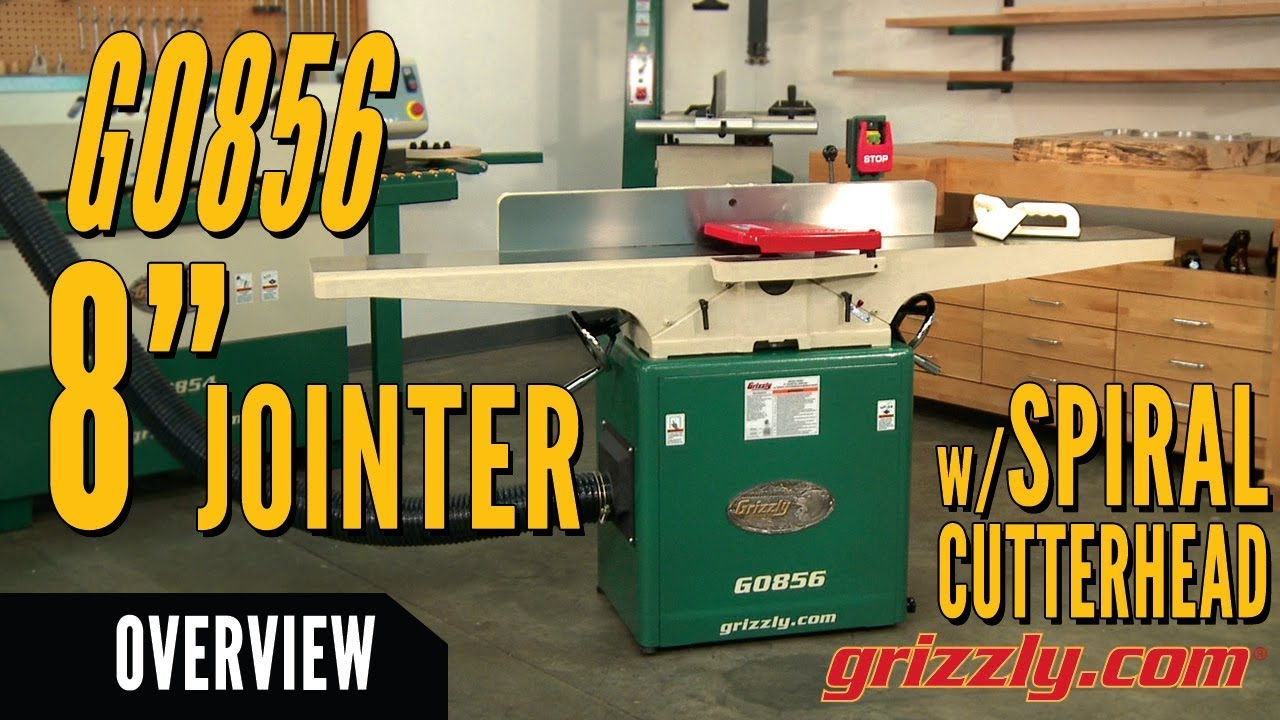 Features And Uses Of Grizzly S G0856 8 X 72 Jointer With Spiral Cutterhead Mobile Base