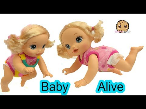 Babysitting Frozen Princess Anna Doll & Baby Alive Who Really Crawls On Her Own !